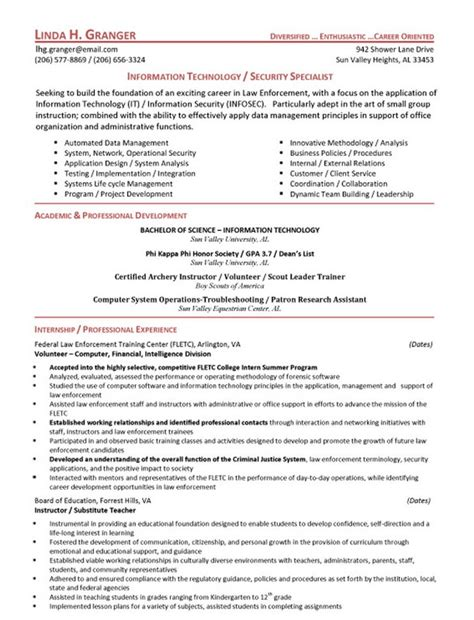 Exle Objective For Resume Officer by Officer Resume Objective Statement Free Resume Templates