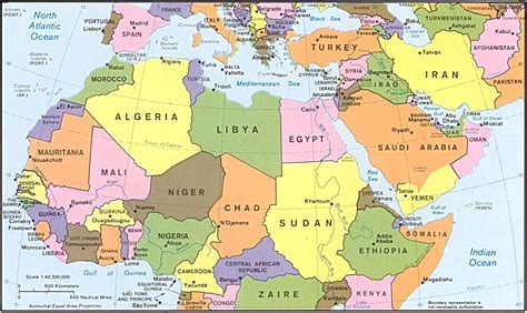north africa map map  northern africa printable north