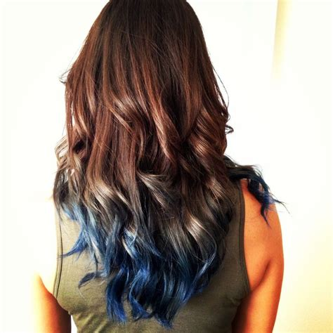 Blue Ombre Hair The Perfect Amount Of Blue Color