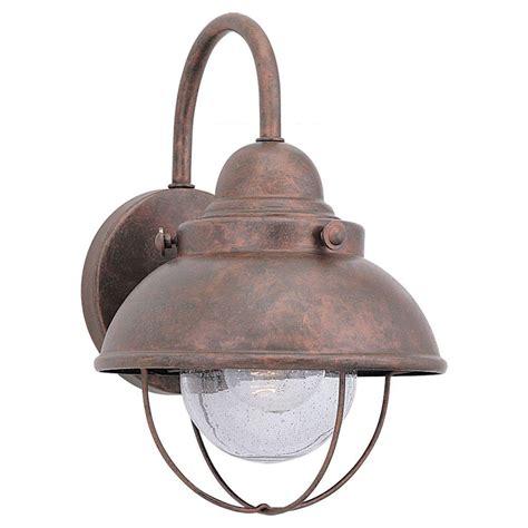 sea gull lighting sebring 1 light weathered copper outdoor