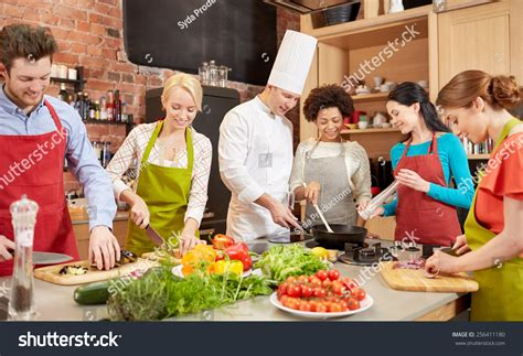 cuisine and cook royalty free cooking class culinary food and 256411180