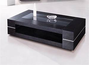 Table Bois Et Noir : table basse en bois noir et blanc ~ Dailycaller-alerts.com Idées de Décoration