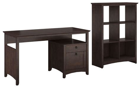 desk with storage cubes buena vista cherry single pedestal desk with 6