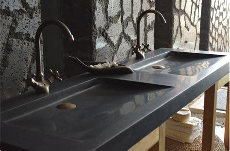 cuisine ton gris vasque en fole 39 ge shadow granit noir