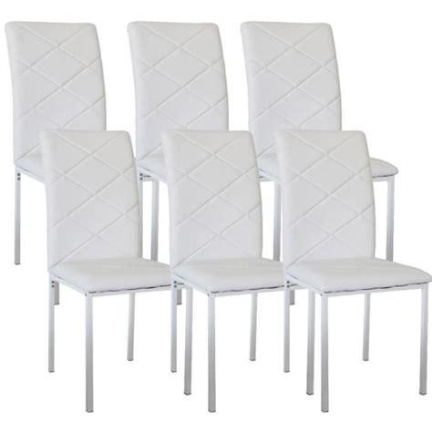 lot 6 chaises lot de 6 chaises design blanche achat vente chaise