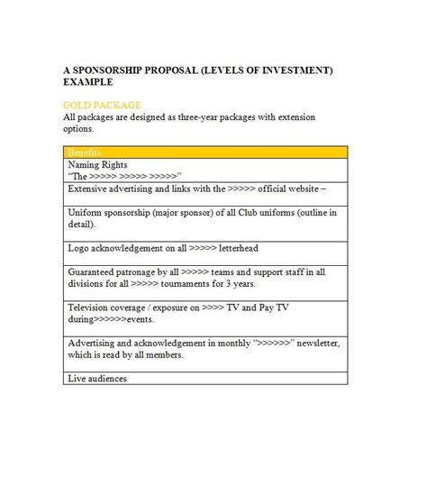 sponsorship template 40 sponsorship letter sponsorship templates