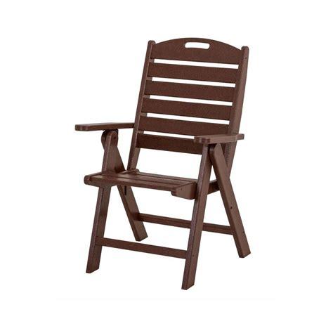 polywood nautical mahogany highback patio chair nch38ma