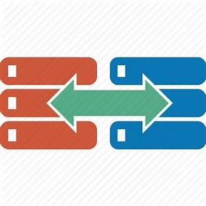 Copy, data, database, move, replica, server, transfer icon ...