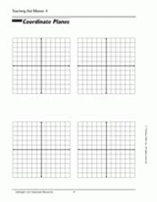 Coordinate Planes Teachervision