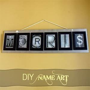 letter photo art tutorial With letter name art