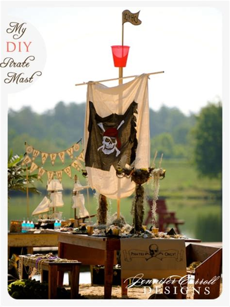 diy my pirate mast centerpiece