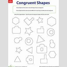 Congruent Figures  Worksheet Educationcom