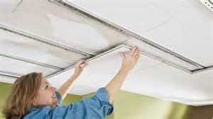 Foam Glue Up Ceiling Tiles by Easy Up