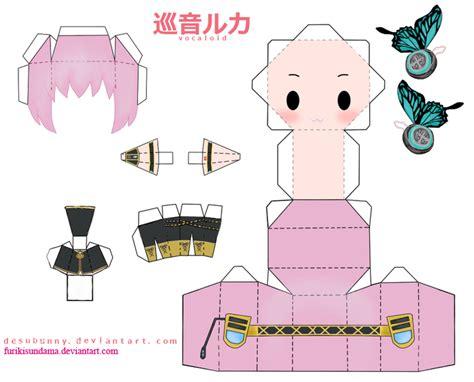 papercraft megurine luki by furikisundama on deviantart