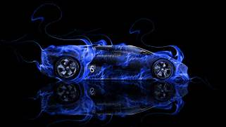 Lamborghini Reventon Roadster Fire Abstract Car 2014   el Tony  Blue Lamborghini Reventon Wallpaper
