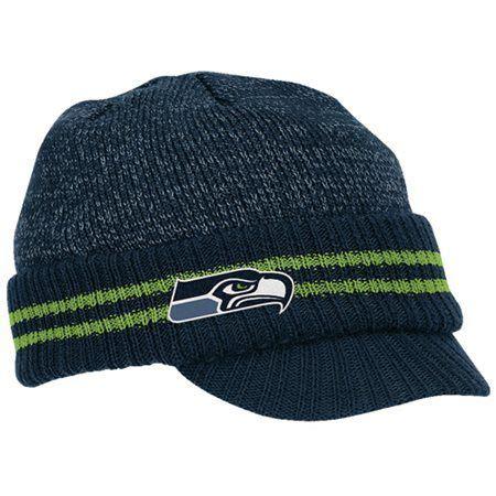 seattle seahawks ladies knit visor hat reebok seattle