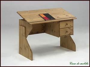 Höhenverstellbarer Schreibtisch Kinder : schreibtisch holz massiv ~ Lizthompson.info Haus und Dekorationen