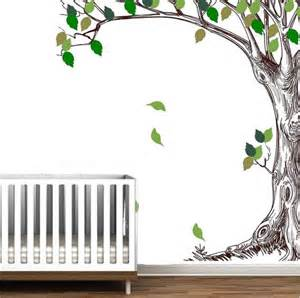 corner trees branches birch peel stick wall mural decal