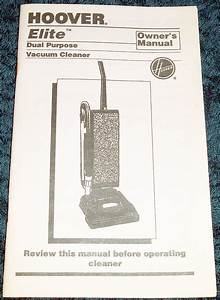 Hoover Spinscrub 60 Instruction Manual