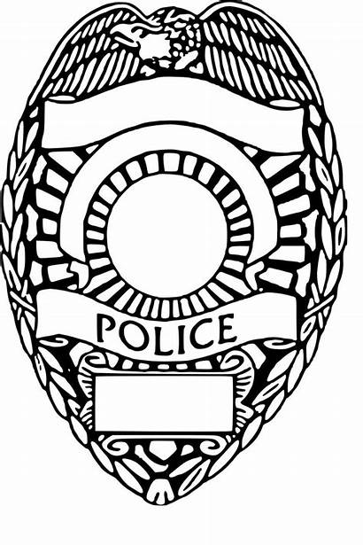 Badge Police Officer Shield Cricut Template Silhouette