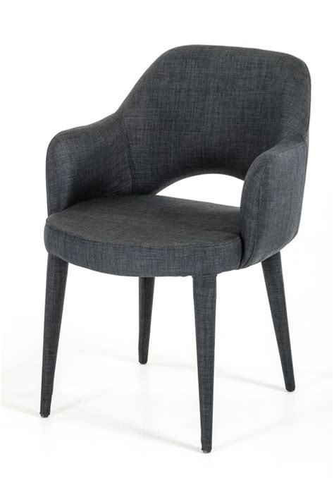 modrest williamette mid century grey fabric dining chair