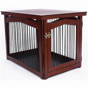 Dog crate table pet gate in pet pens for Dog crate gate