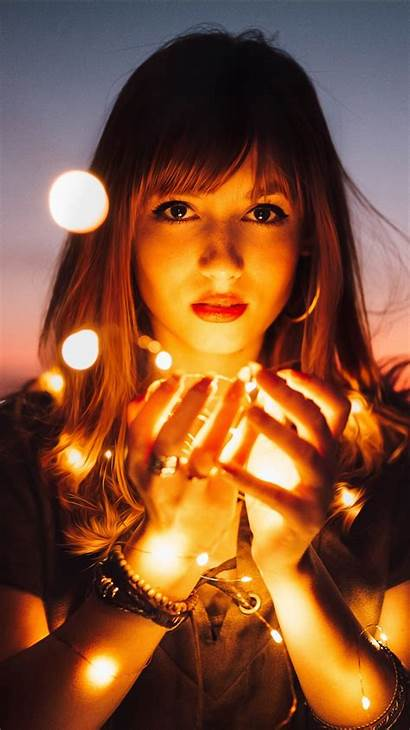 Portrait 5k Lights Wallpapers Iphone Plus 1080