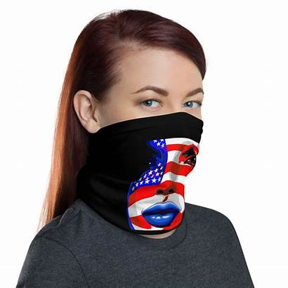 Mask Gaiter Face Neck American Usa Shield