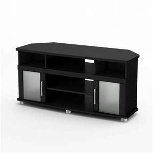 Meuble En Coin : south shore meuble en coin pour tv 50 noir solide collection city life home depot canada ~ Teatrodelosmanantiales.com Idées de Décoration