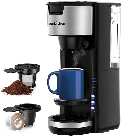 Often a small coffee maker makes way more sense since it takes up less space. Singles Serve Coffee Makers For K Cup Pod & Coffee Ground ...