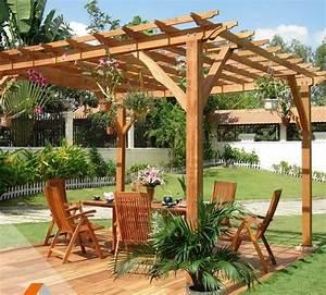 une pergola bois et jolie tonnelle a un prix pas cher france With comment monter une tonnelle de jardin 4 kiosque de jardin bois