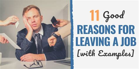 11 good reasons for leaving a job to get hired for your