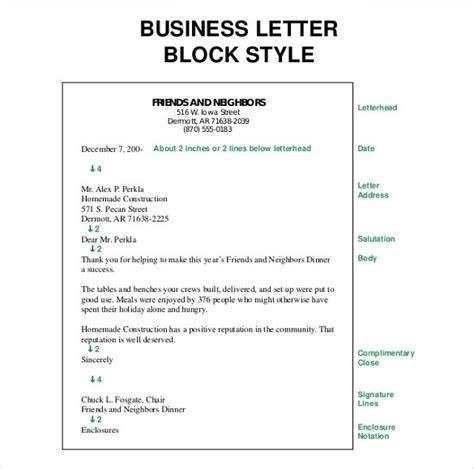 business letter format enclosure notation examples  forms