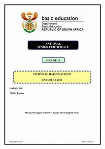 Final Exam Paper 1 Economics Grade 11 Gauteng