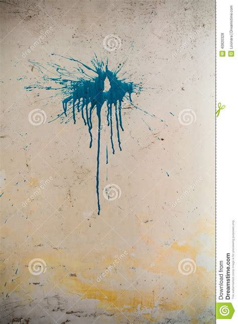 paint stain   wall stock photo image