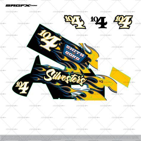 Sprint Car Wrap Layout 1 School Of Racing Graphics