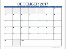 December 2017 Printable Calendar calendar printable free