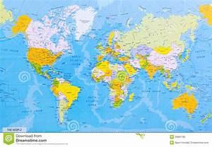 Carte Du Monde Metallique : carte d taill e du monde photographie stock image 29681182 ~ Teatrodelosmanantiales.com Idées de Décoration