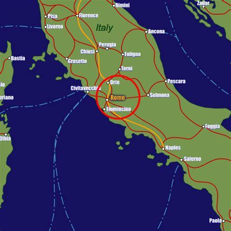 rome rail maps  stations  european rail guide
