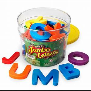 learning resources jumbo magnetic letter numbers combo With jumbo foam magnetic letters