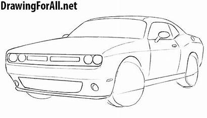 Challenger Dodge Draw Drawing Step Drawings Cars