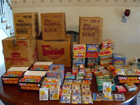 baseball card unopened packs toys pop mom cards antique trading lots lot huge topps corner boxes plus sports gun army