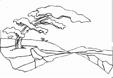 coloring page landscapes coloring pages
