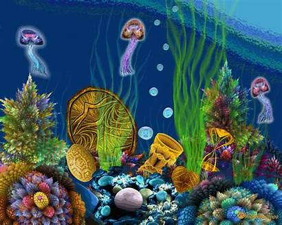 Sea Under Animated Garden Treasure Underwater Ocean