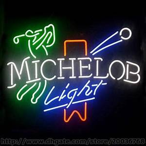 2017 Hot Michelob Light Golf Neon Sign Handcrafted Real