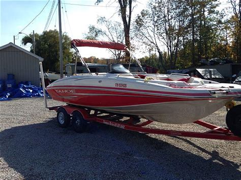 Tahoe 195 Deck Boat Outboard by 2007 Tahoe 195 Deck Boat For Sale In The Lindsay Area