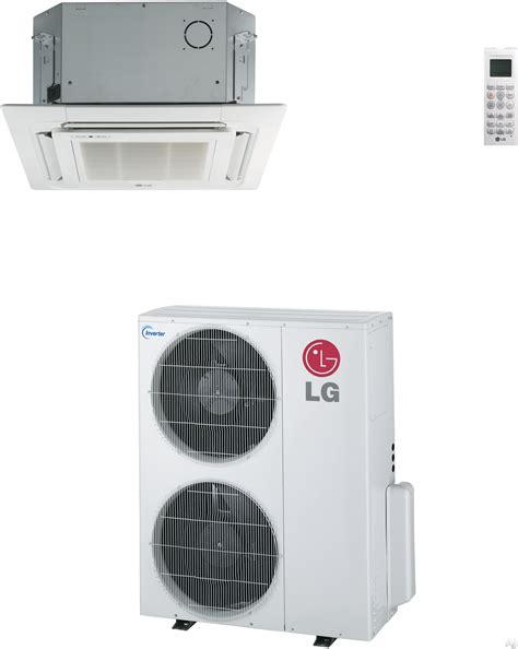 lg ceiling cassette mini split lg lc427hv 41 000 btu single zone ceiling cassette cool
