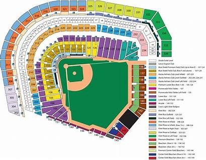 Map Seating Seat Park Giants Chart San