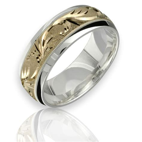 10k yellow gold wedding ring 925 sterling silver 8mm wide band for him and ebay