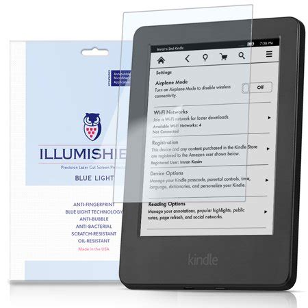 kindle blue light illumishield screen protector w uv blue light filter 2x